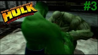 The Incredible Hulk:Ultimate Destruction PS2 Gameplay #3 [Hulk vs The Abomination]