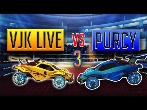 VJK LIVE Vs PURCY....1v1 In ROCKET LEAGUE #3 + New Beta Nugget Winner