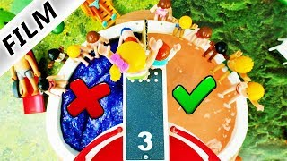 Playmobil Film Deutsch SPRING NICHT IN FALSCHEN AQUAPARK POOL! WASSERPARK CHALLENGE Familie Vogel