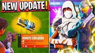 NEW Remote Explosive VICTORY + NEW LOOT LLAMAS LOCATIONS - Fortnite Battle Royale New Update