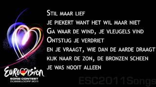 3JS - Je Vecht Nooit Alleen [Songtekst in beeld/Lyrics in screen] ESC2011