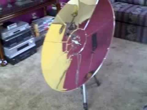 How To Build A Parabolic Solar Heater Doovi