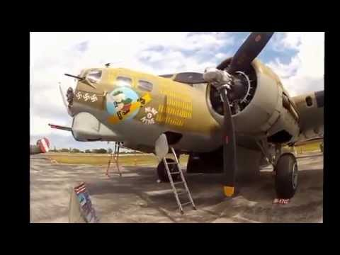 The visit of the interior of a B-17 and a B24