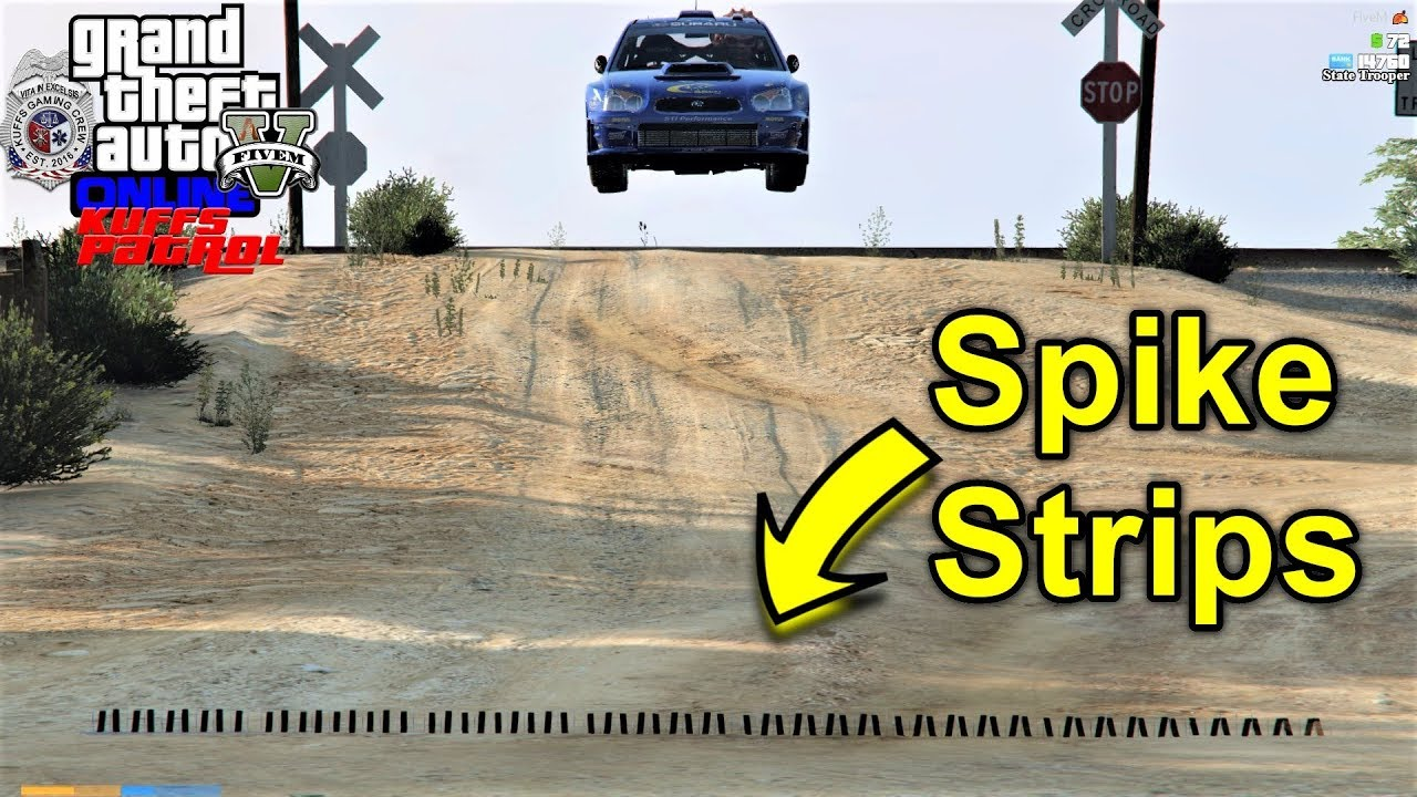 GTA 5 Police Mod KUFFS vRP FiveM #319 Spike Strips