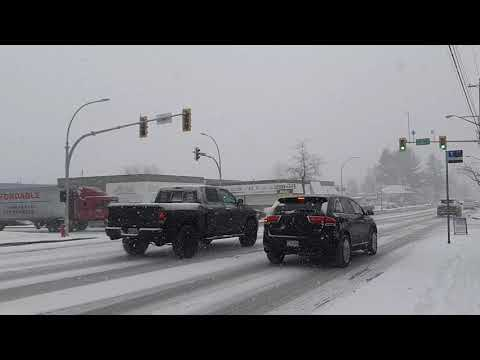 February 10th 2019 Snow In Surrey BC