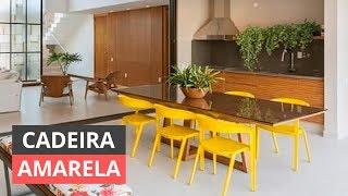 CADEIRA AMARELA PARA SALA - COMO USAR PARA DECORAR thumbnail