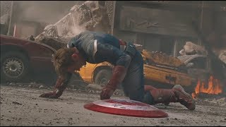 Avengers vs Chitauri Army - Captain America got shot - Movie CLIP HD