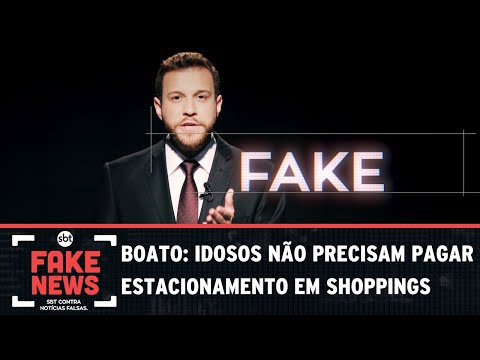 SBT Contra Notícias Falsas: Idosos não precisam pagar estacionamento em shoppings?