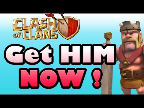 Clash Of Clans - How To Get Barbarian King For FREE - TownHall 7 (TH7)