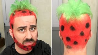 ROCK PAPER SCISSORS 5 - Funniest STRAWBERRY HAIRCUT