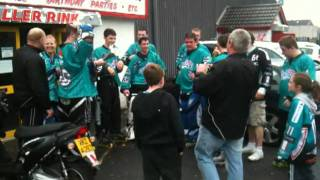 The Northern Cyclones Senior Team Champagne  Shower 2011