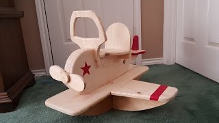 Rocking Toy Airplane for Makers Care
