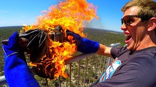 FIRE ANVIL Vs. DEODORANT CANS from 45 TOWER!! thumbnail