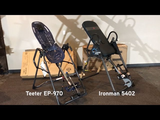 Inversion Table Review: Comparison of Teeter EP-970 and Ironman 5402