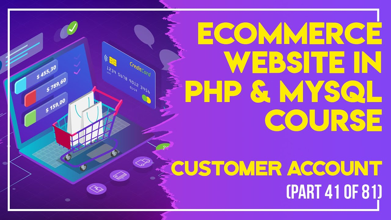 E-Commerce website in PHP & MySQL in Urdu/Hindi part 41 customer account