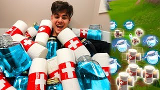 MOST FORTNITE ITEMS IN REAL LIFE! (Fortnite In Real Life Challenge) | David Vlas