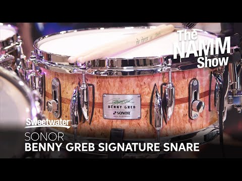 Sonor Benny Greb Signature Snare Drums at Winter NAMM 2020