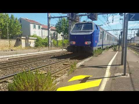Départ du TER Corail Lyon-marseille à Miramas ! (BB22200+Corail)