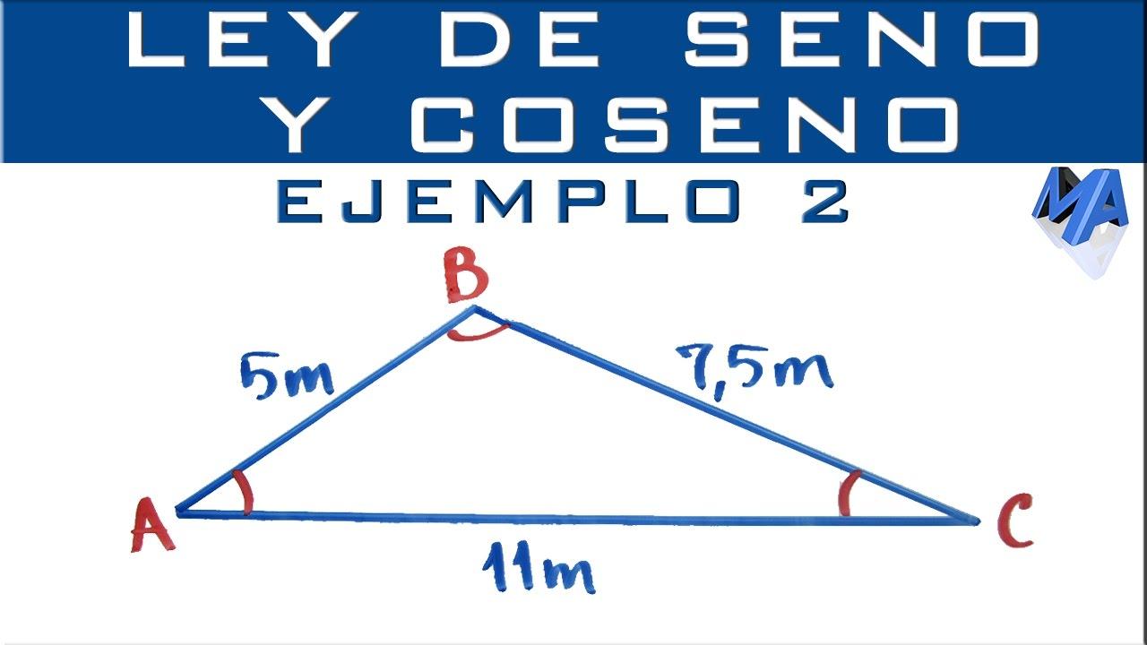 Ley De Seno Y Coseno Ejemplo 2 Solucionar El Triángulo Youtube