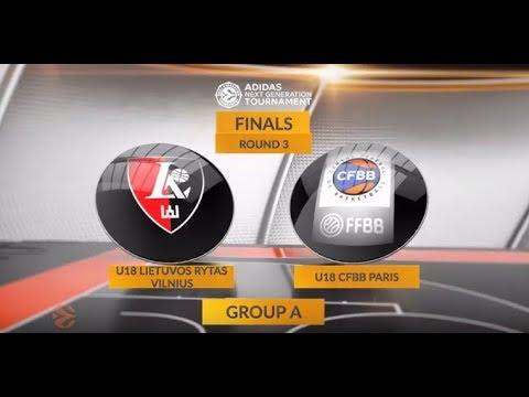 EB ANGT Finals Highlights: U18 Lietuvos rytas Vilnius - U18 CFBB Paris