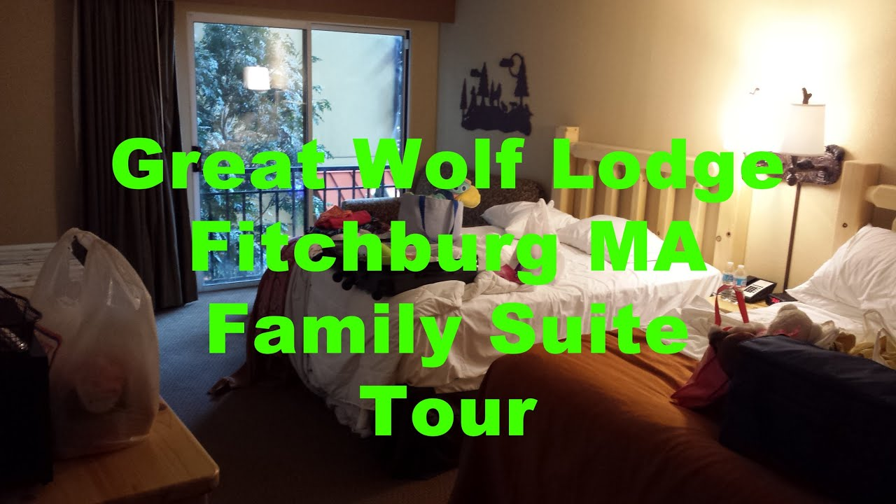Great Wolf Lodge Family Suite Room Tour Fitchburg MA Boston New England