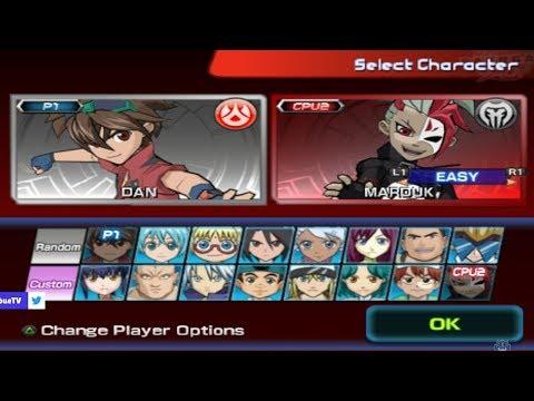 Bakugan Battle Brawlers All Characters [PS2]