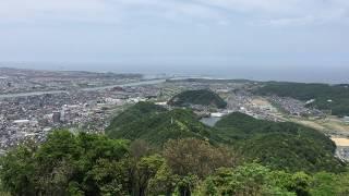鳥取城の本丸からの風景30秒 鳥取城 検索動画 16