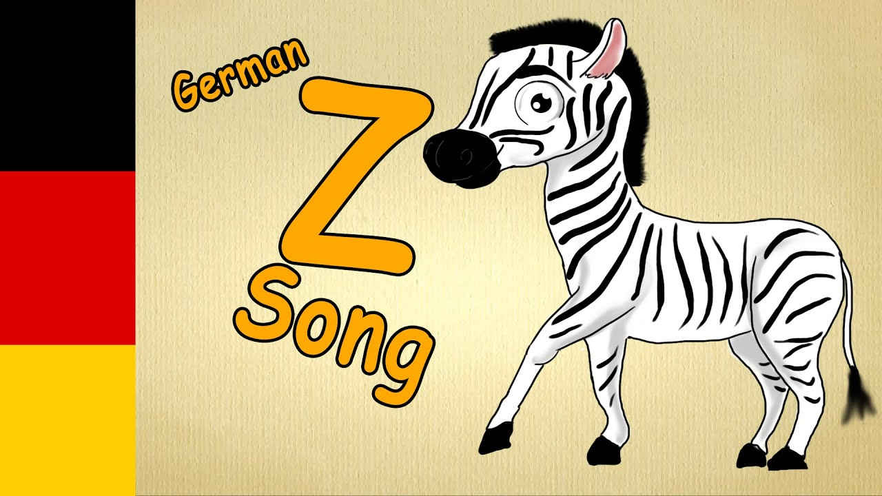 german learning Song for children The german letter Z song