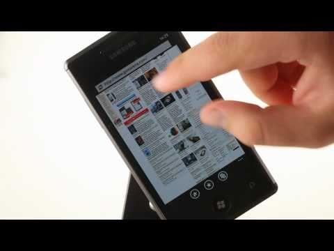 Samsung I8700 Omnia 7 Internet Explorer demo