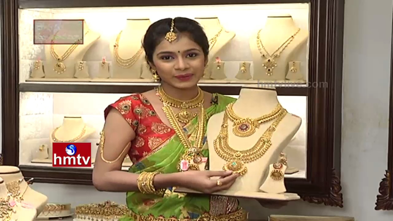 547210ef20408 Different Types of New Design Necklaces in Manepally Jewellers | Sogasu  Chuda Taramaa | Awani | HMTV