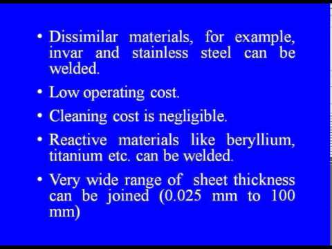 Mod-04 Lec-05 Electron Beam and Plasma Welding Processes