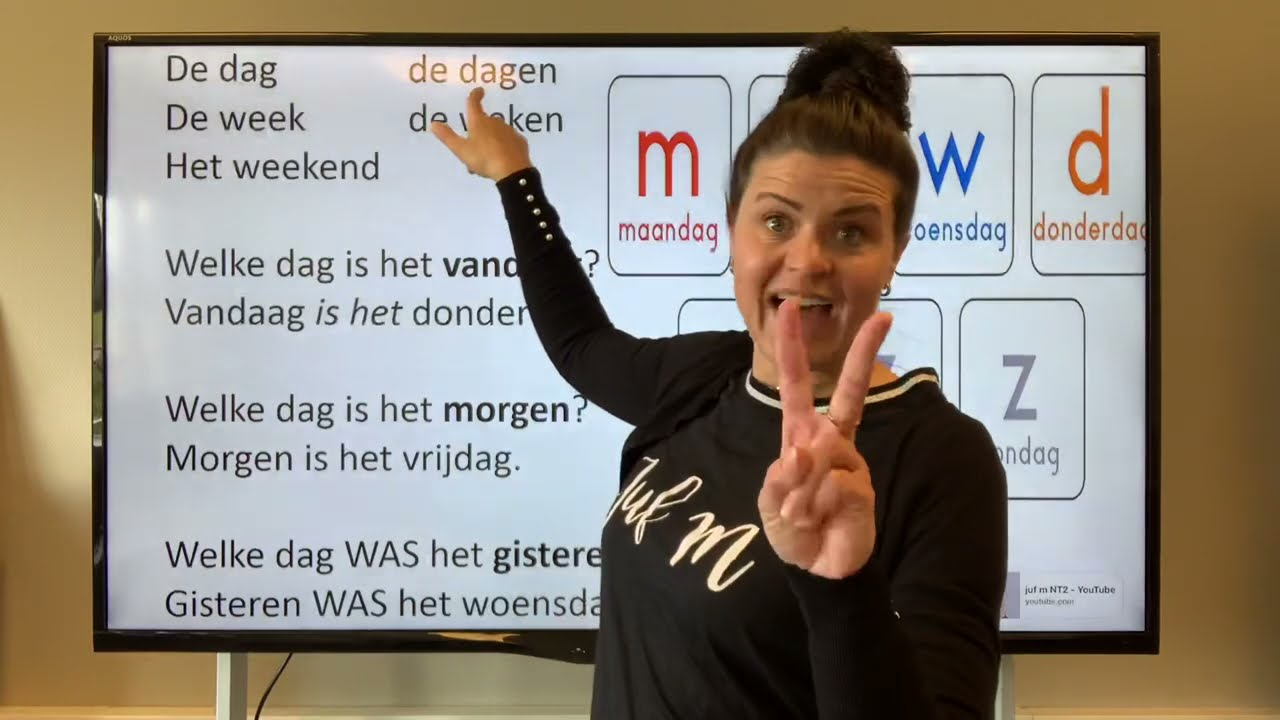 Download NT2 5B maandag woensdag weekend welke dag is het vandaag?? Nederlands leren TC2.4 #learndutch