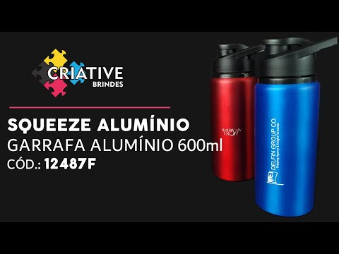 Squeeze Alumínio 600ml 12487F Personalizado