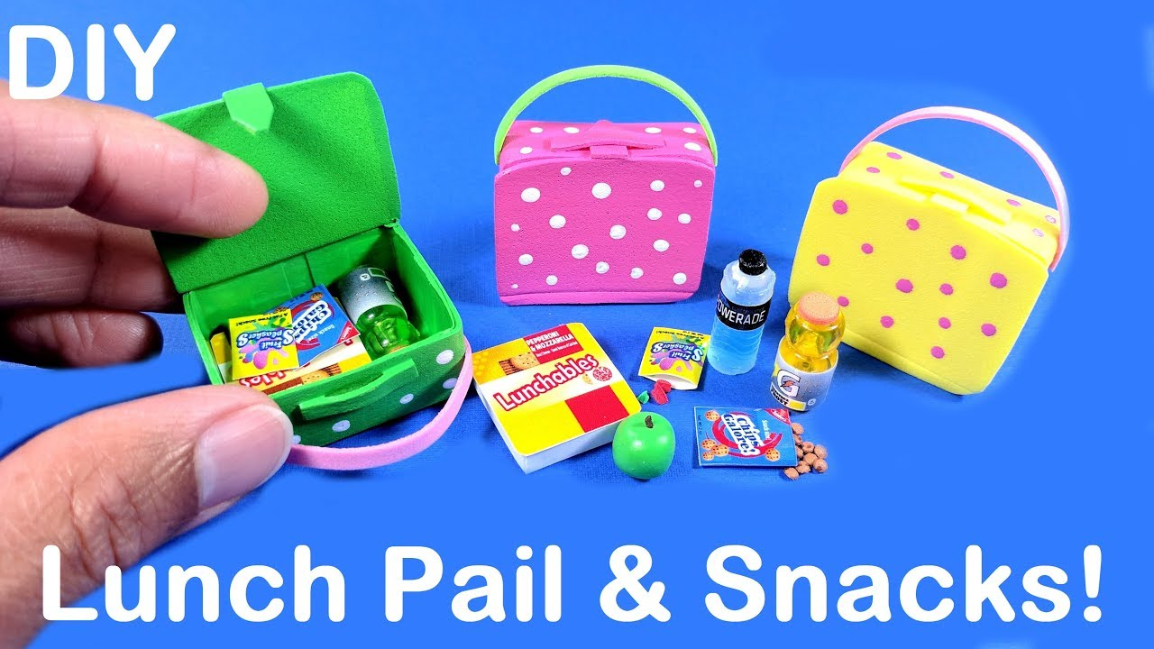 Diy Miniature Lunch Pail Bag With School Snacks Lunchables Fruit