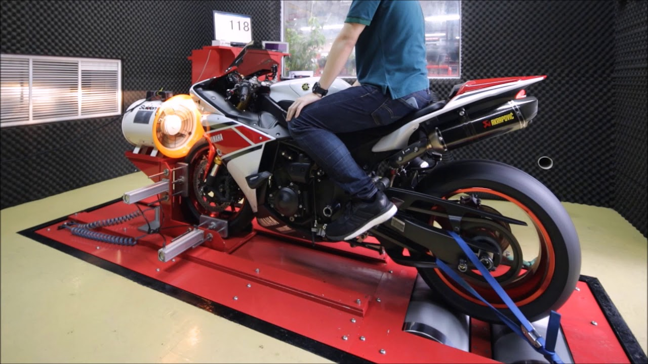 2012 Yamaha YZF-R1 Dyno Top Speed 305 km/h Run with Full System ...