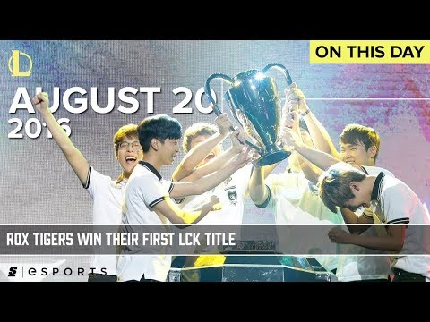 The Day ROX Tigers Won Their First Ever LCK Title