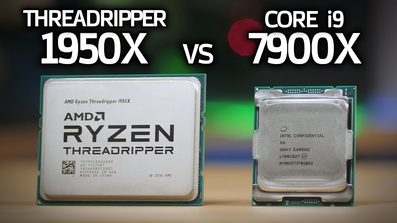 Threadripper 1950X vs i9 7900X Benchmarks! $1000 CPU BATTLE!