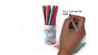 DIY - Mod Podge Pencil cup