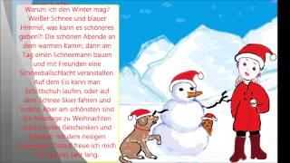 Учимся говорить по немецки 48 (почему я люблю зиму)