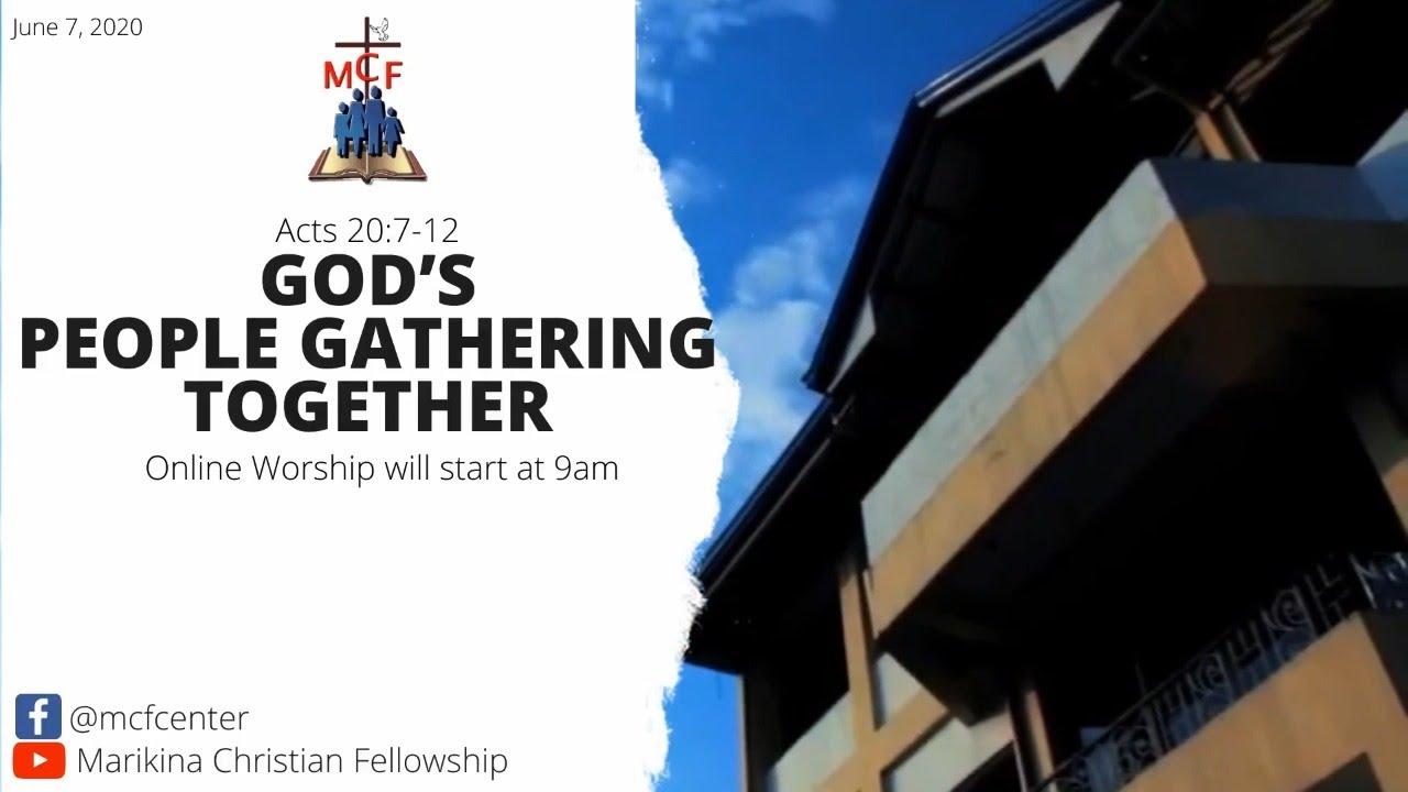 LIVING SACRIFICES: GOD'S PEOPLE GATHERING TOGETHER (Week 12)