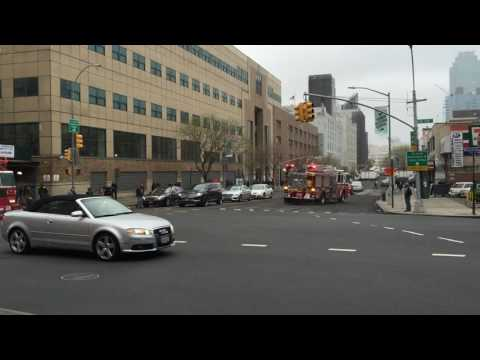FDNY ENGINE 259 & FDNY LADDER 128 RESPONDING ON VAN DAM STREET IN SUNNYSIDE, QUEENS, NEW YORK CITY.