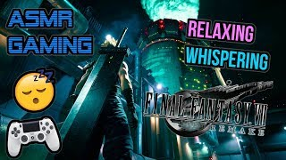 ASMR Gaming 😴 Relaxing Final Fantasy 7 Remake PS4 Demo 🎧🎮 Controller Sounds + Whispering 💤