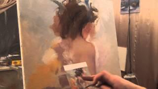 Урок живописи Александра Южакова девушка