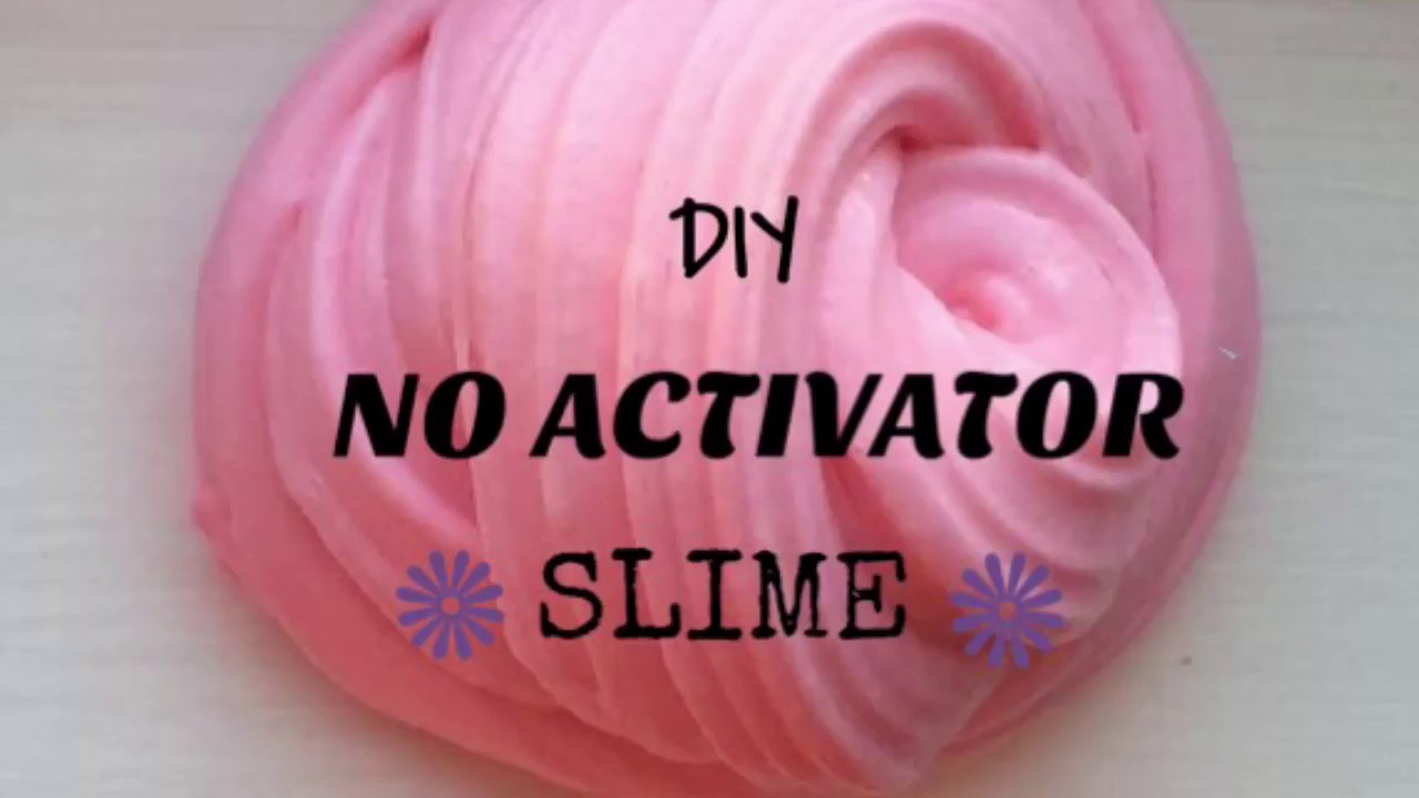 How to make slime activator without borax or laundry detergent