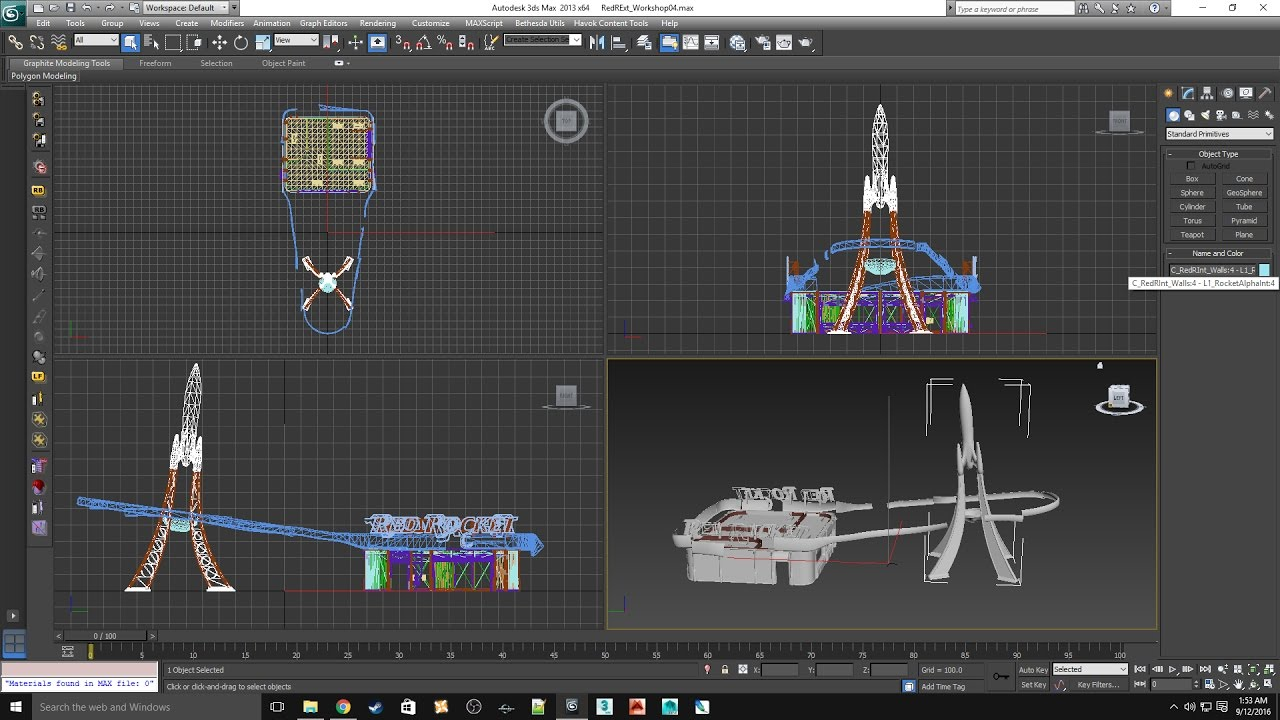 Fallout 4 3d model editing and complex collision creation 3d model editor
