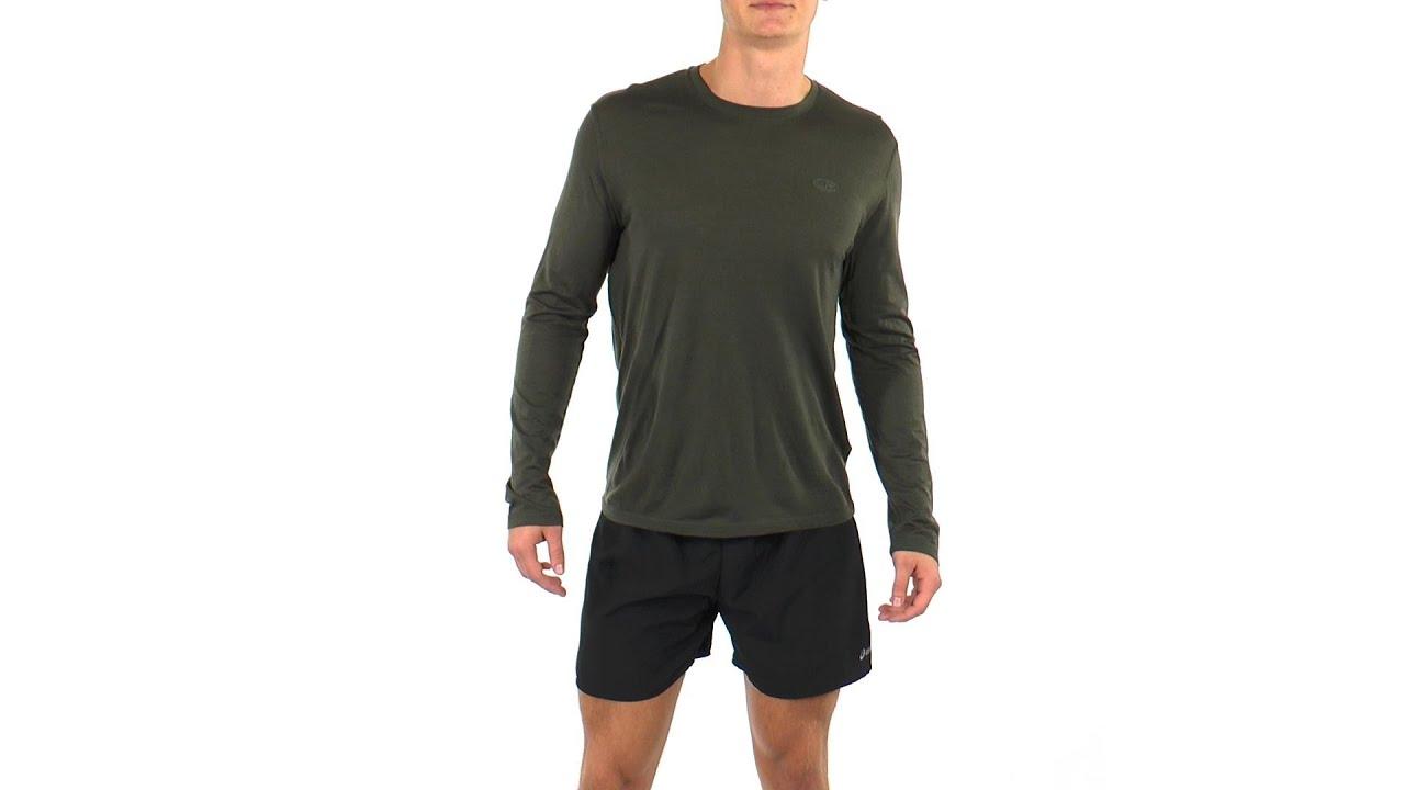 a8d01b0c352 Icebreaker Men's Tech T Lite Running Long Sleeve | SwimOutlet.com ...