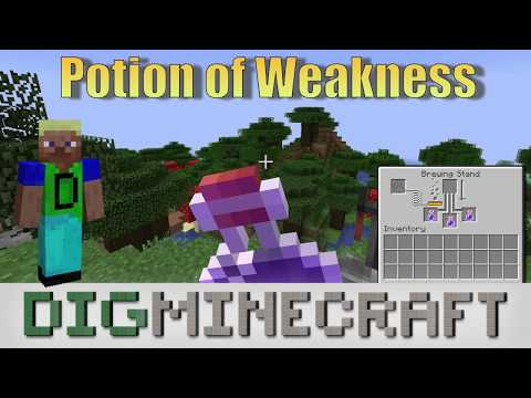 How to make a Potion of Weakness (1:30) in Minecraft