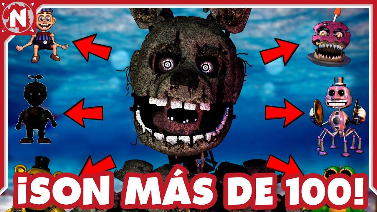TODOS los ANIMATRÓNICOS de Five Nights At Freddy's que EXISTEN - (PARTE 2)