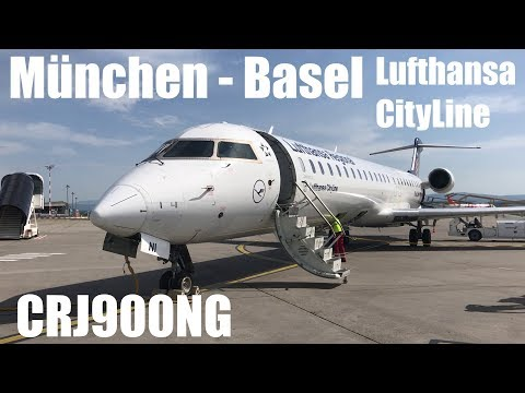 Lufthansa CityLine Bombardier CRJ-900NG Flight LH2398 Munich - Basel Mulhouse