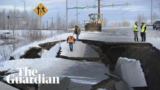 'It felt like the ground was doing a dance': earthquakes rattle Alaska
